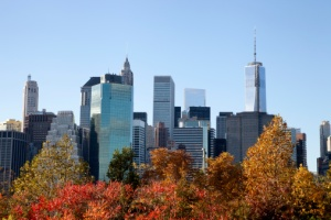 Manhattan skyline fall